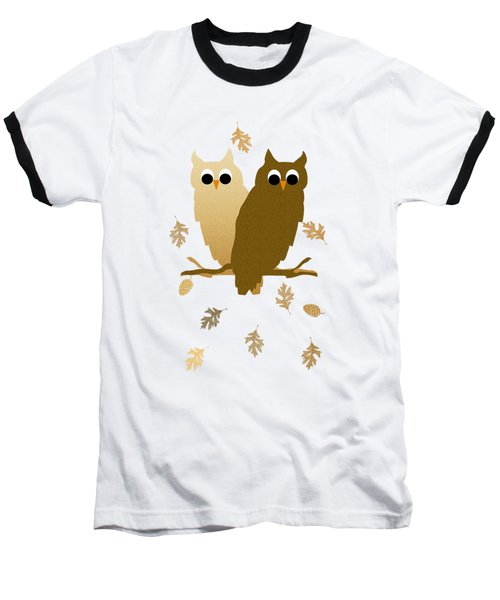 Owl Pattern Baseball T-Shirt