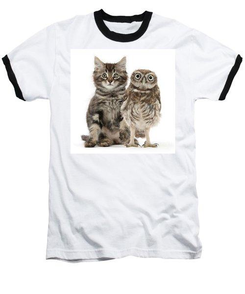 Owling And Yowling Baseball T-Shirt