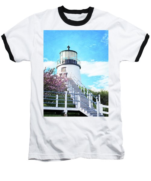 Owl's Head Light In Early June Baseball T-Shirt