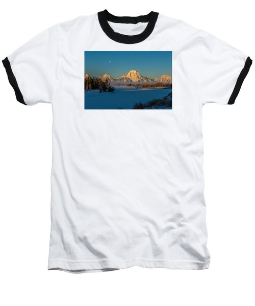 Oxbow Bend In Late Winter Baseball T-Shirt by Yeates Photography