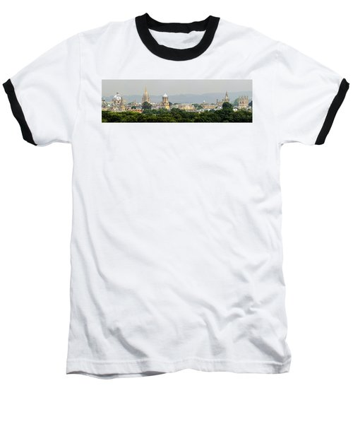 Oxford Spires Panoramic Baseball T-Shirt by Ken Brannen