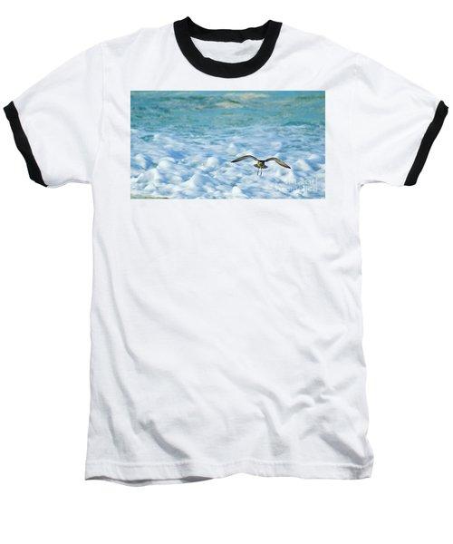 Pacific Golden Plover Flying Baseball T-Shirt