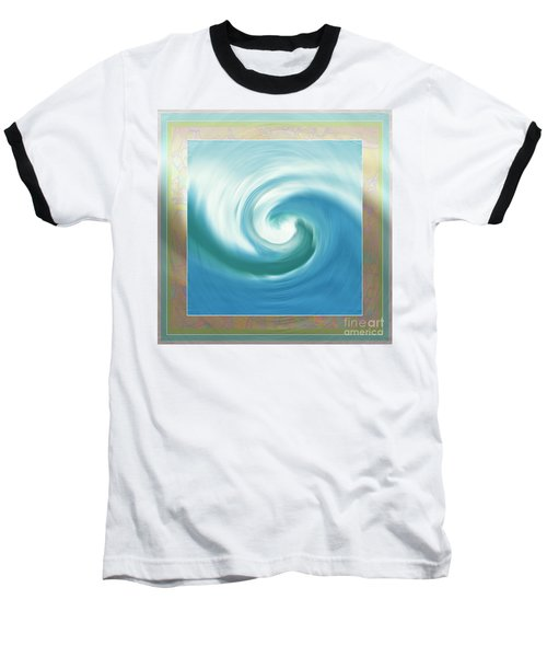 Pacific Swirl With Border Baseball T-Shirt