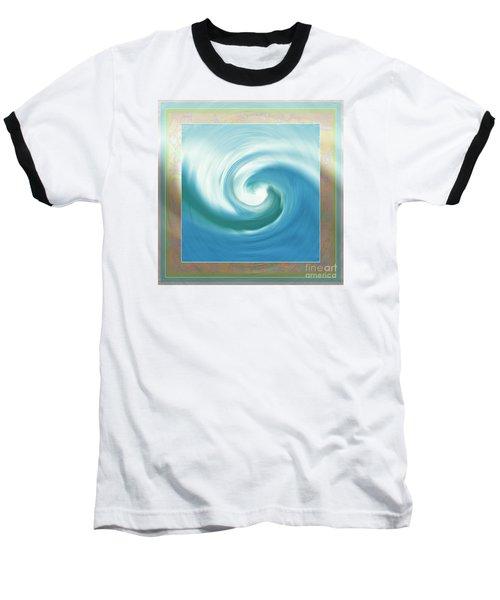 Pacific Swirl With Border Baseball T-Shirt