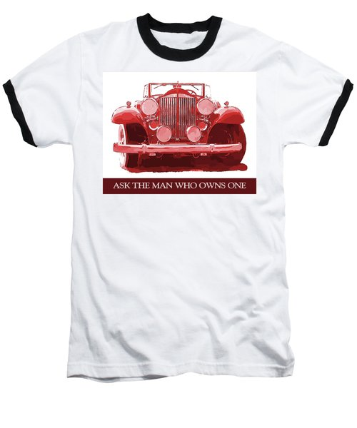 Packard Ask The Man Red Baseball T-Shirt