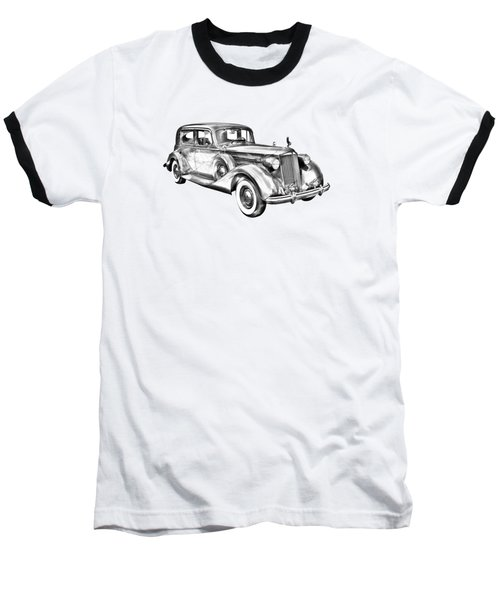 Packard Luxury Antique Car Illustration Baseball T-Shirt