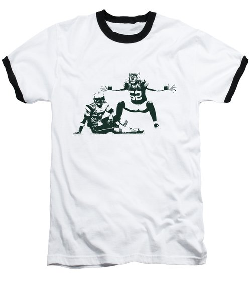 Packers Clay Matthews Sack Baseball T-Shirt