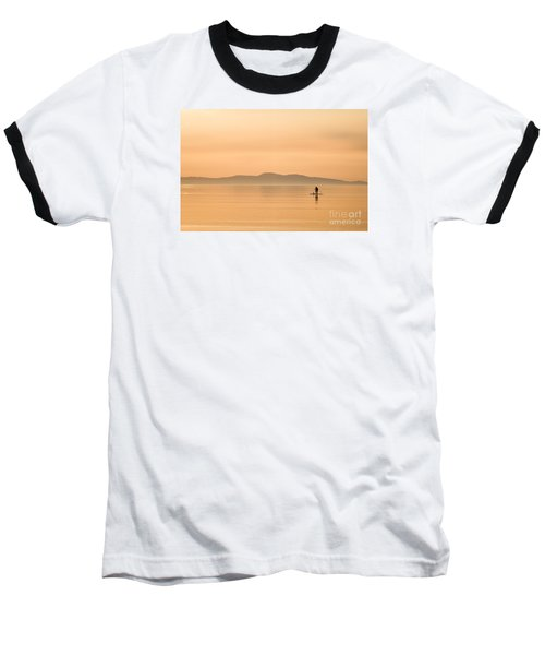 Paddle Boarding At Sunrise Baseball T-Shirt