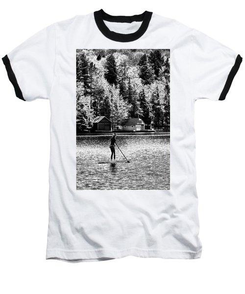 Paddleboarding On Old Forge Pond Baseball T-Shirt