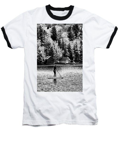 Paddleboarding On Old Forge Pond Baseball T-Shirt