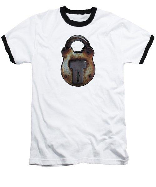 Padlock Baseball T-Shirt by Tom Conway