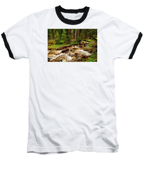Pahsimeroi Cascades Baseball T-Shirt by Greg Norrell