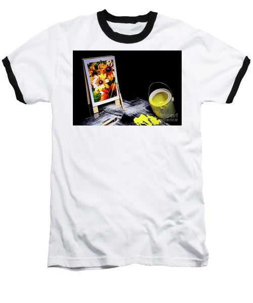 Painted Canvas Baseball T-Shirt