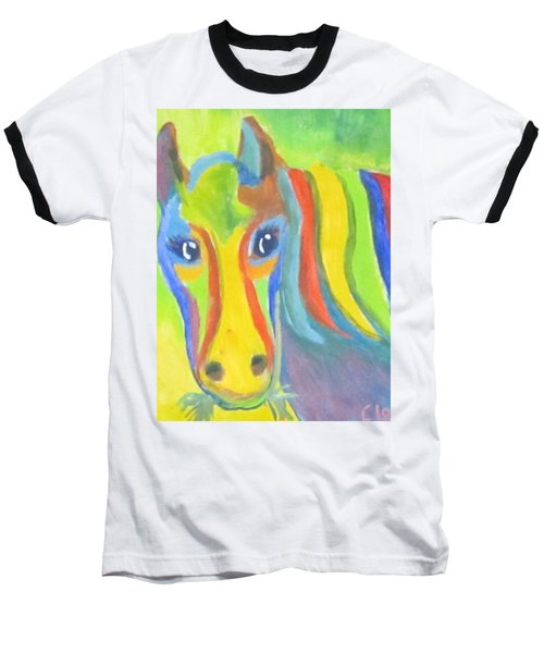 Painted Pony Baseball T-Shirt by Cathy Long