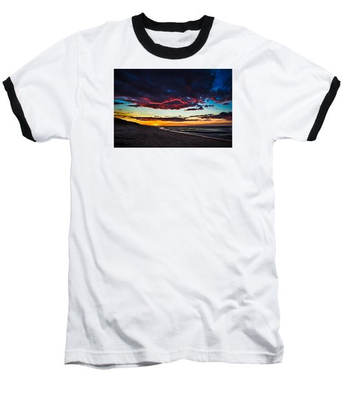 Painted Sky Baseball T-Shirt by Peter Scott