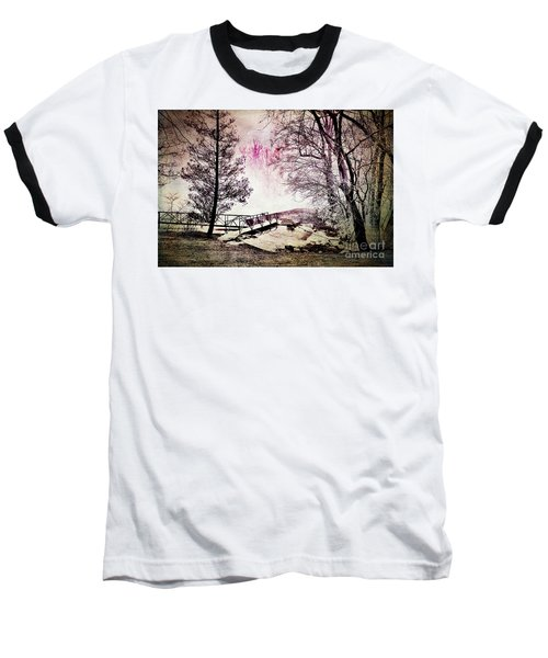Baseball T-Shirt featuring the photograph Painted Trees by Judy Wolinsky