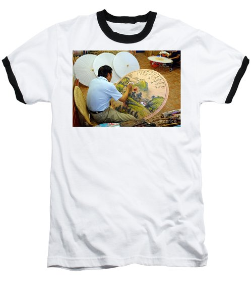 Painting Chinese Oil-paper Umbrellas Baseball T-Shirt