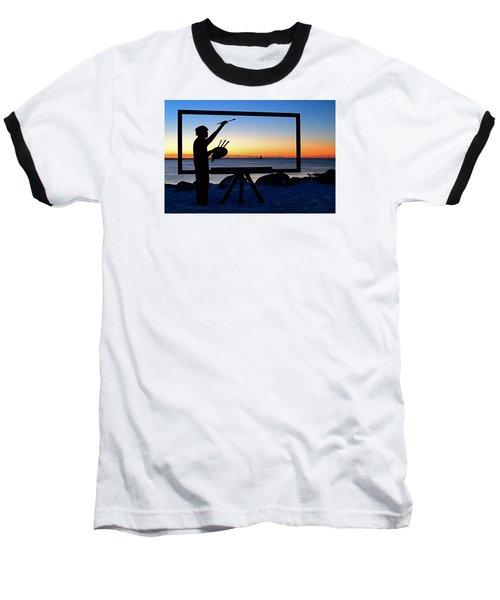 Painting The Perfect Sunrise Baseball T-Shirt by James Kirkikis