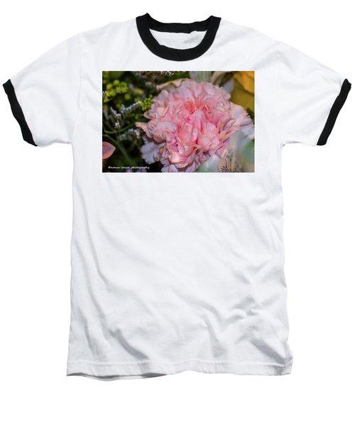 Pale Pink Carnation Baseball T-Shirt