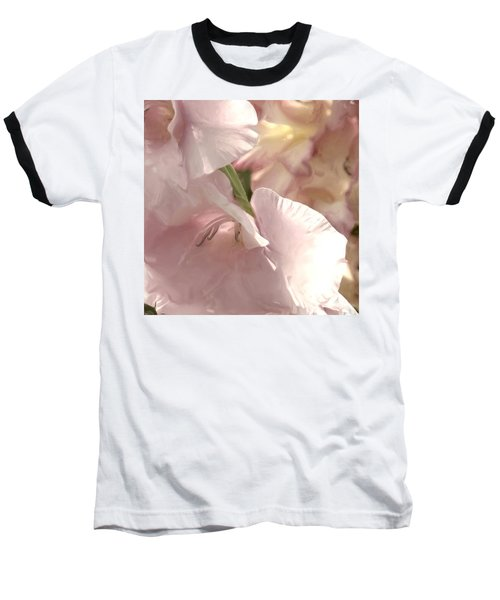 Pale Pink Glads Baseball T-Shirt