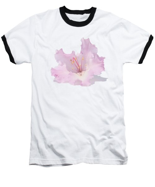 Pale Pink Rhododendron On Transparent Background Baseball T-Shirt