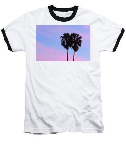 Palm Trees Silhouette At Sunset Baseball T-Shirt