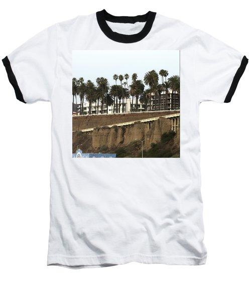 Palm Trees And Apartments Baseball T-Shirt