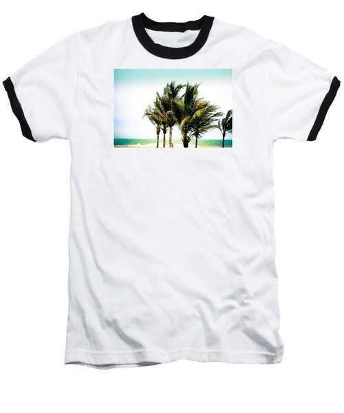 Baseball T-Shirt featuring the photograph Palm Trees Ocean Breeze by Colleen Kammerer