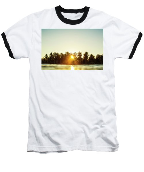 Palms And Rays Baseball T-Shirt