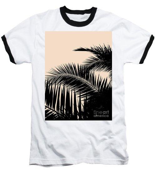 Palms On Pale Pink Baseball T-Shirt