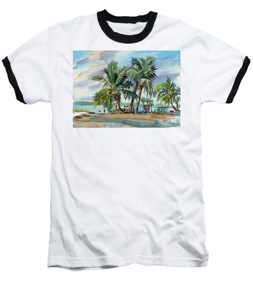 Palms On Sanibel Baseball T-Shirt by Donald Maier