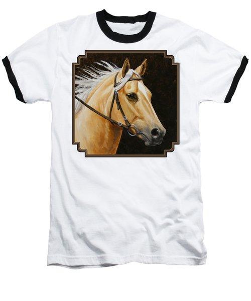 Palomino Horse Portrait Baseball T-Shirt