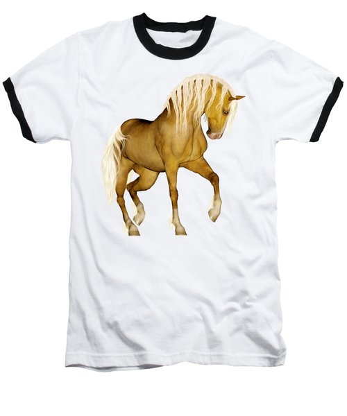 Baseball T-Shirt featuring the painting Palomino by Valerie Anne Kelly