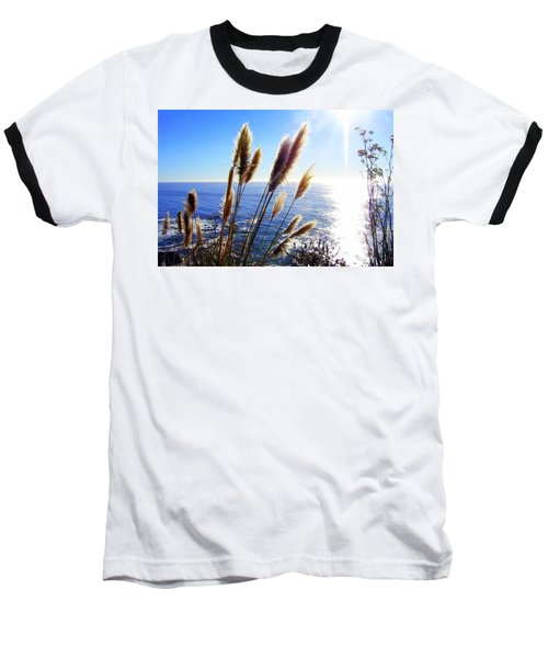 Pampas Grass And The Pacific 2 Baseball T-Shirt