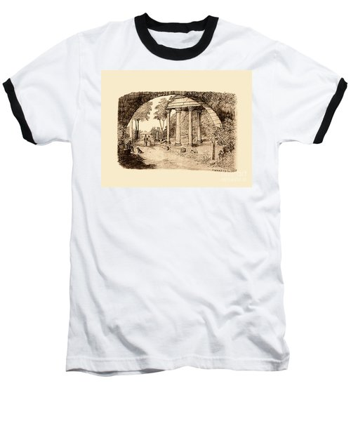 Pan Looking Upon Ruins Baseball T-Shirt