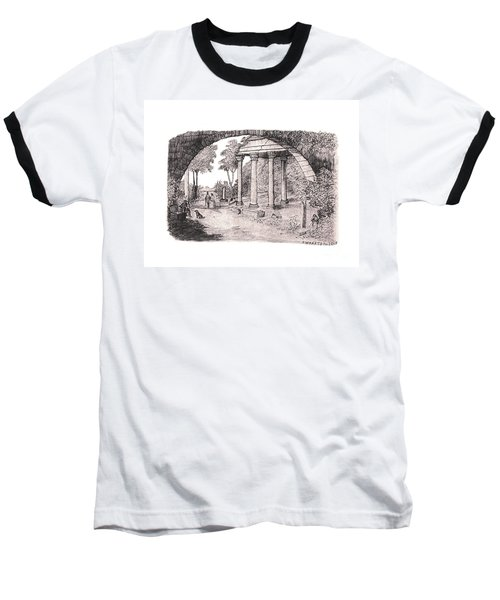 Pan Watching Ruins Of The Past Baseball T-Shirt