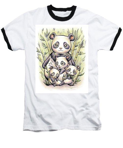 Endangered Animal Giant Panda Baseball T-Shirt