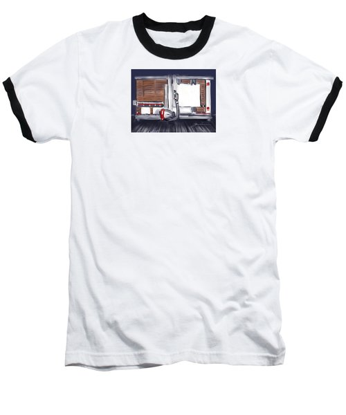 Baseball T-Shirt featuring the painting Panel Saw by Jean Pacheco Ravinski