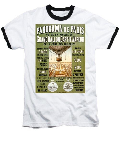 Panorama De Paris Baseball T-Shirt