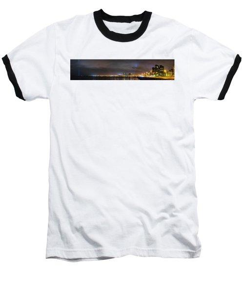 Panorama Of Reykjavik Iceland Baseball T-Shirt