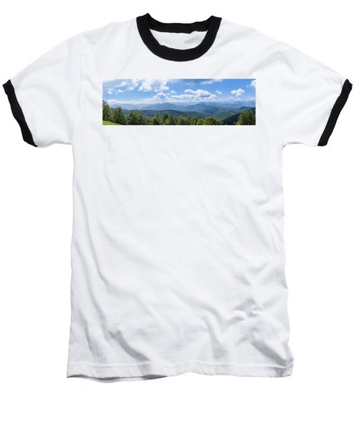 Panorama Of The Foothills Of The Pyrenees In Biert Baseball T-Shirt by Semmick Photo