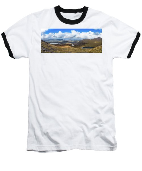 Panorama Of Valleys And Mountains In County Kerry On A Summer Da Baseball T-Shirt by Semmick Photo