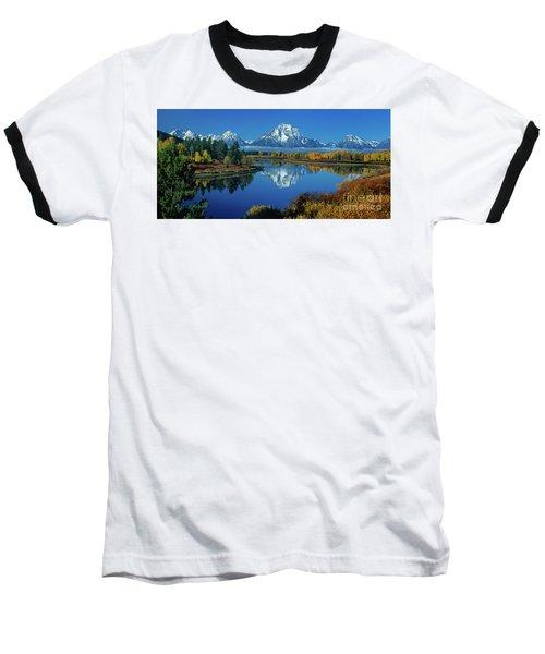Panorama Oxbow Bend Grand Tetons National Park Wyoming Baseball T-Shirt