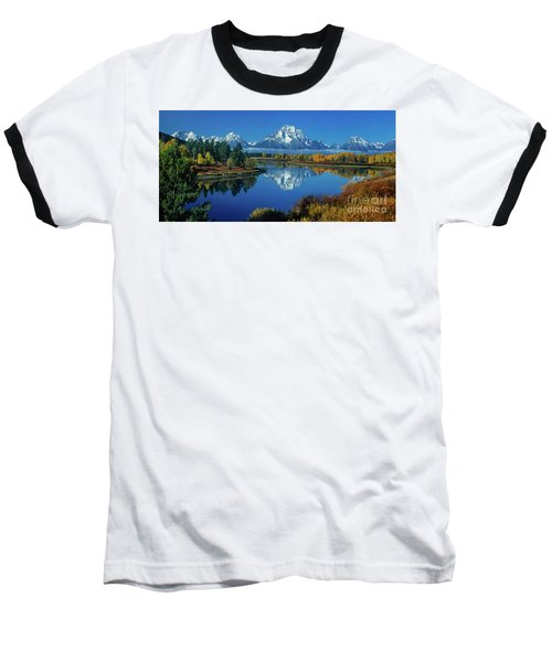 Baseball T-Shirt featuring the photograph Panorama Oxbow Bend Grand Tetons National Park Wyoming by Dave Welling