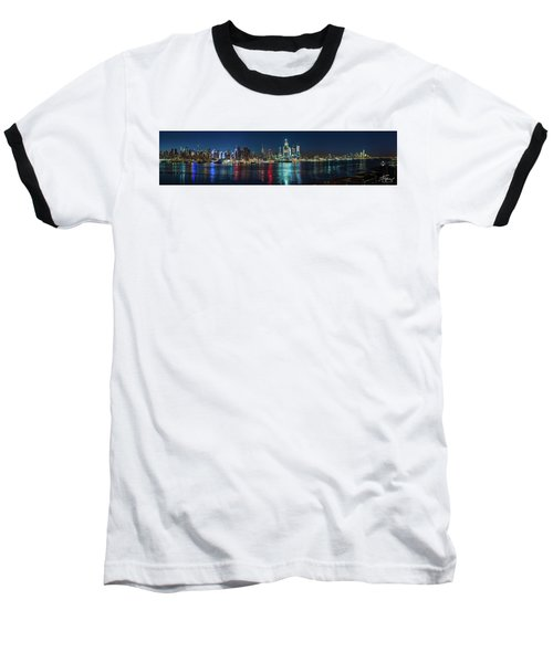 Panoramic Skyline-manhattan Baseball T-Shirt