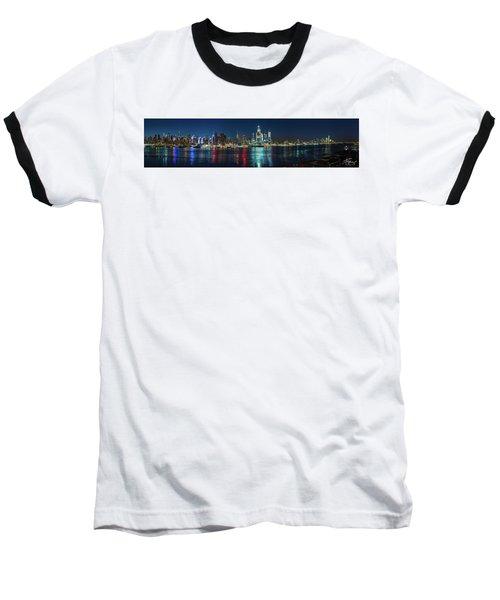 Panoramic Skyline-manhattan Baseball T-Shirt