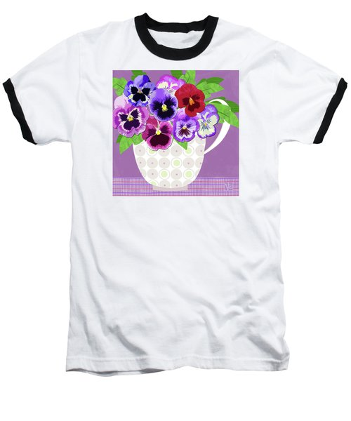 Pansies Stand For Thoughts Baseball T-Shirt