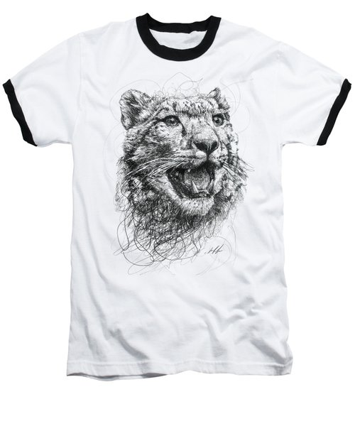 Leopard Baseball T-Shirt by Michael Volpicelli