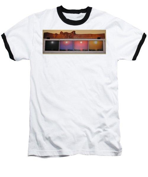 Paper Sun Baseball T-Shirt by John Wartman