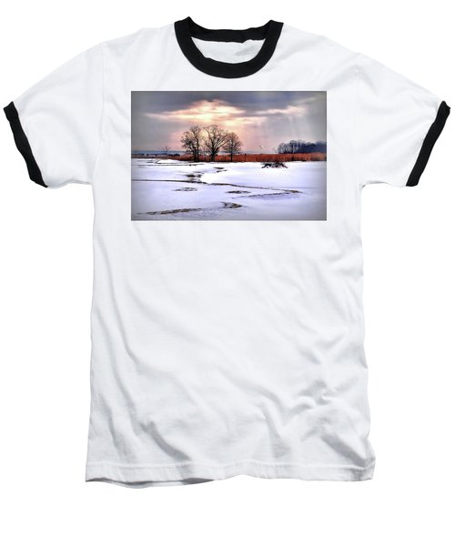 Par For Winter's Course Baseball T-Shirt by Diana Angstadt